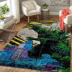 Godzilla Area Rug - King of the Monsters Movie Floor Decor 1910192