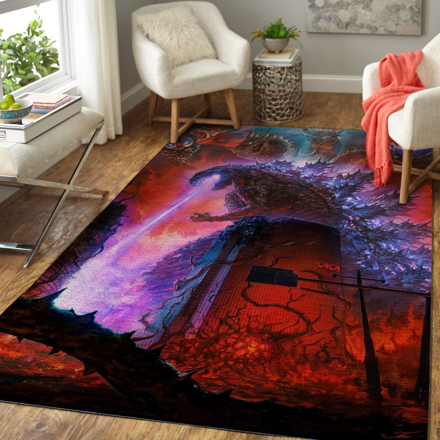 Godzilla Area Rug - King of the Monsters Movie Floor Decor 1910193
