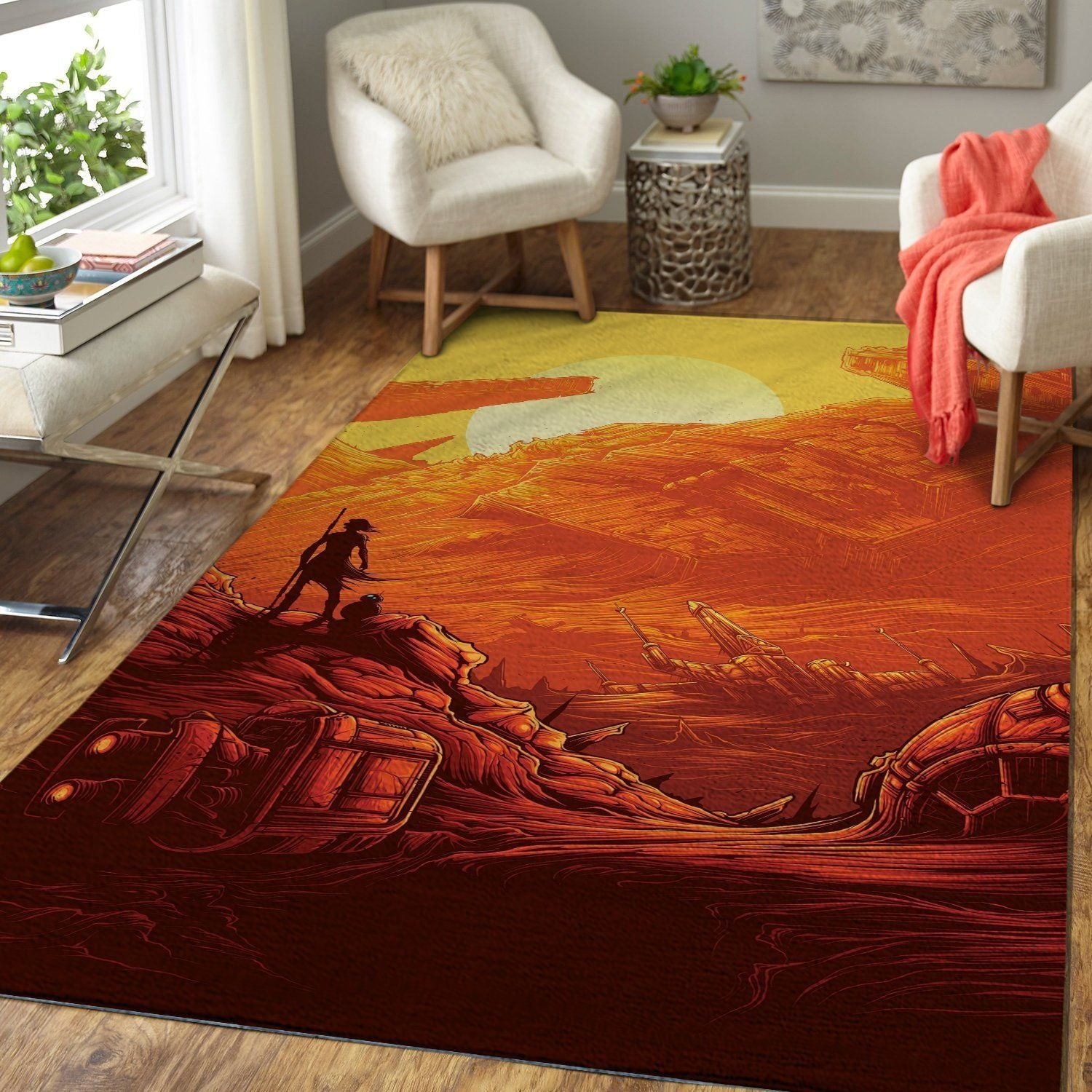 Star Wars Area Rug - The Force Awakens / Movie Floor Decor 190901C