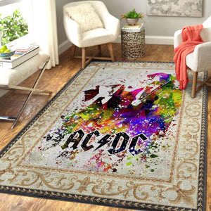 ACDC Band Rug Room Carpet Sport Custom Area Floor Home Decor