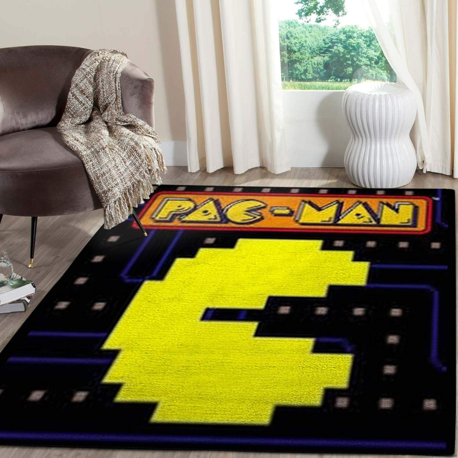 Pacman Gaming Area Rugs Living Room Carpet Christmas Gift Floor Decor RCDD81F34752