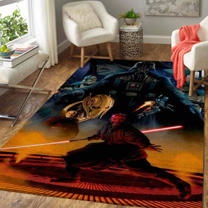 Star Wars Fans Darth Vader Area Rug - Movie Home Decor - HomeBeautyUS