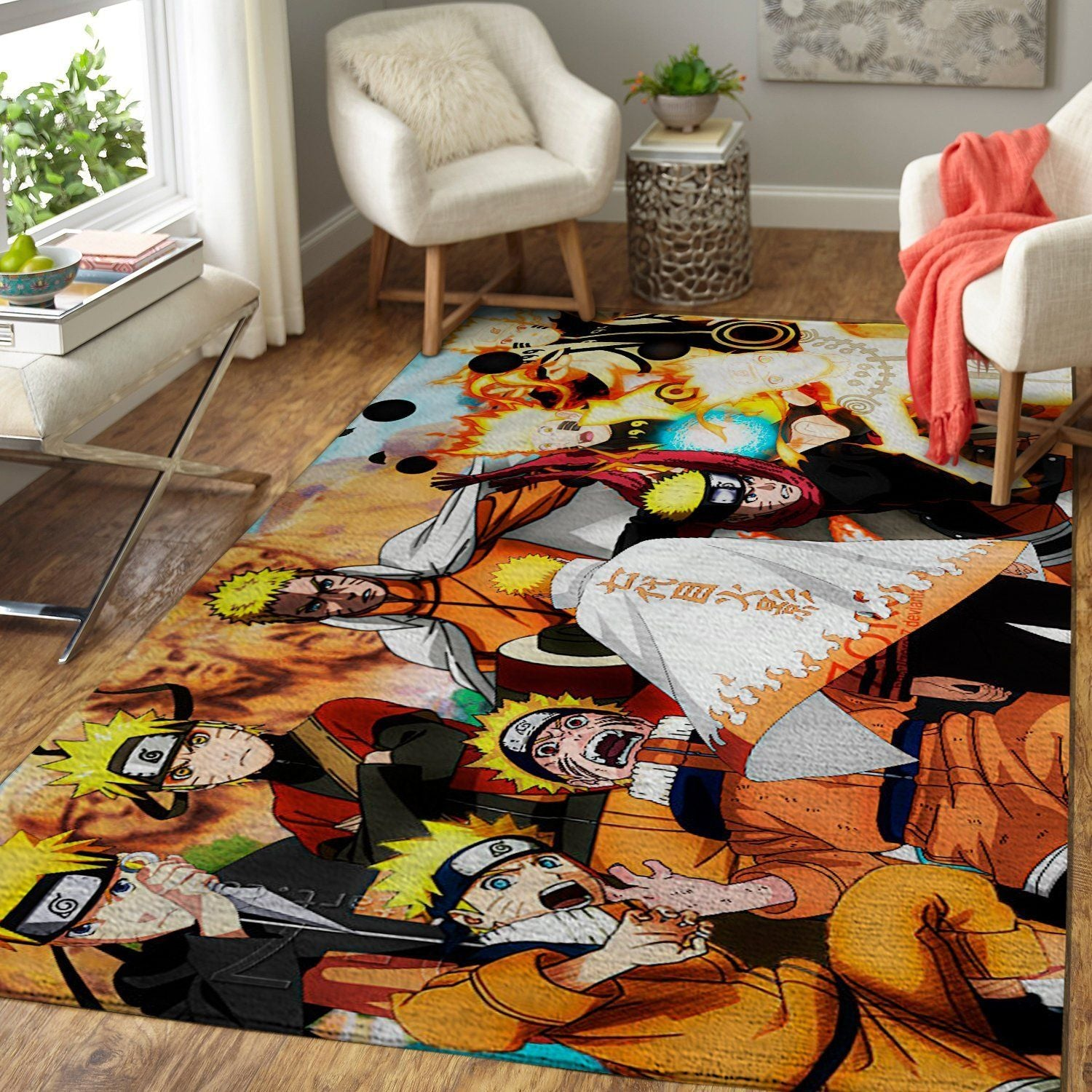 Naruto All Forms Area Rug / Floor Decor 191013