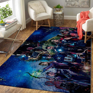 All Heroes Avengers - Infinity War Area Rug - Marvel Superhero Movie Home Decor - HomeBeautyUS