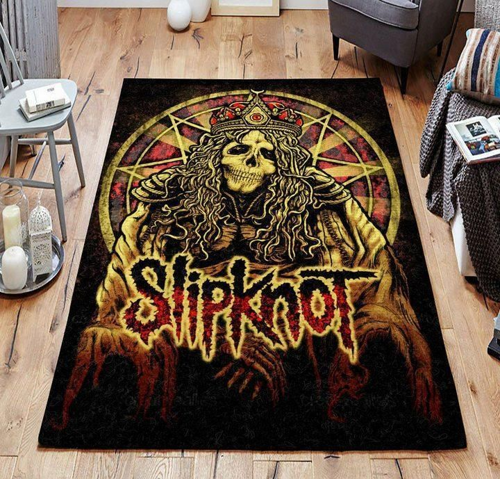 Heavy Metal Band Slipknot Area Rug - Music Home Decor - HomeBeautyUS