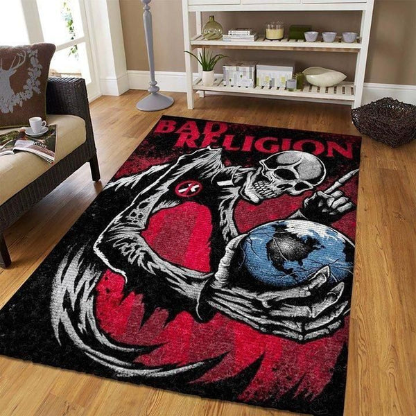 Bad Religion Area Rug - Skeleton / Music OFD 1909081