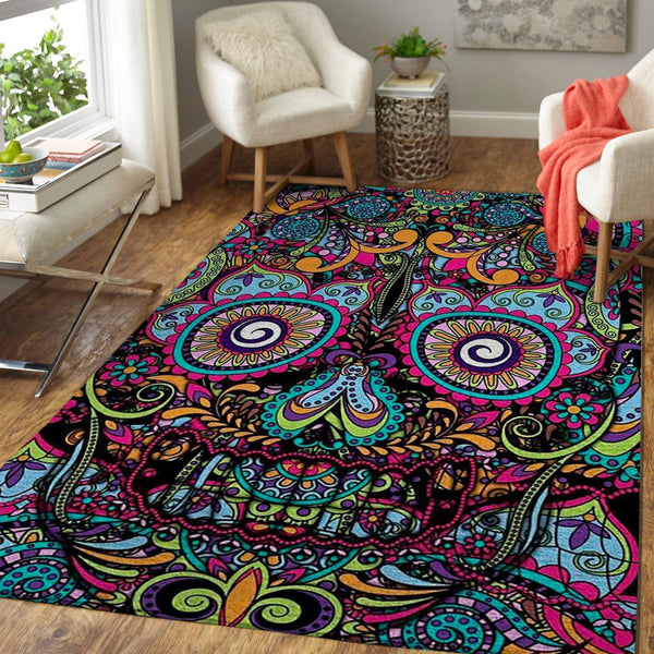 Boho Detailed Skull Area Rug / OFD BH190830