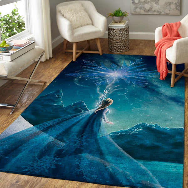 Frozen Elsa Area Rug / Disney Princess Movie Floor Decor 1908301