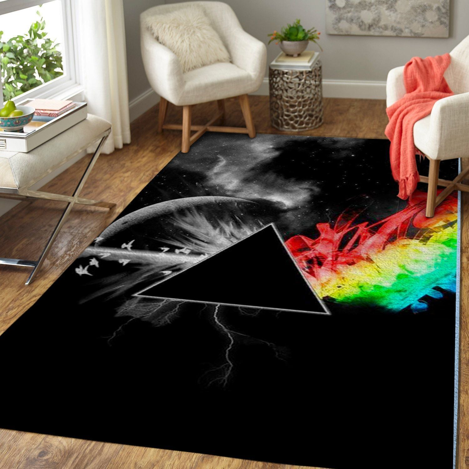 Pink Floyd Area Rug - The Dark Side of the Moon / Music OFD 1910125