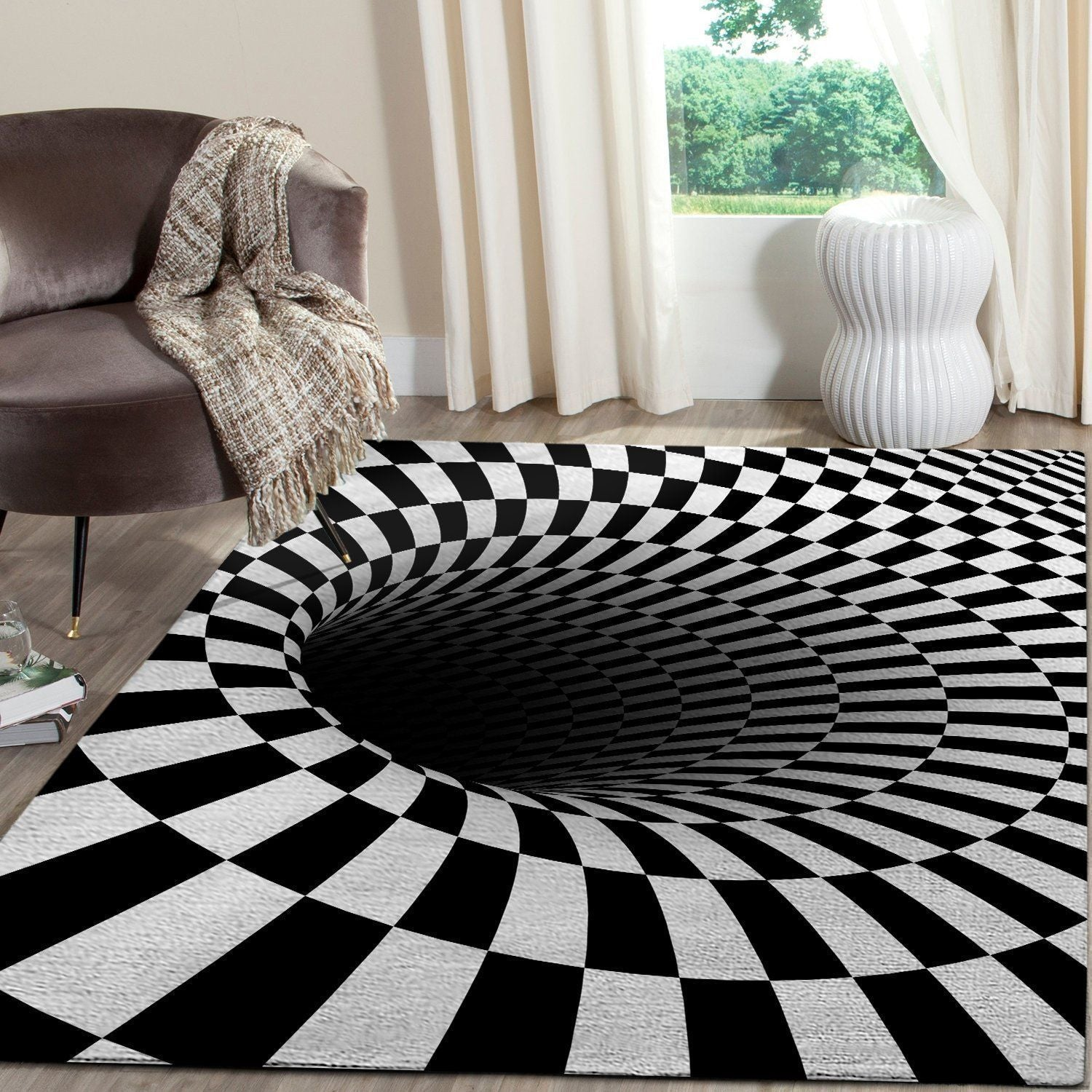 3D Area Rug - Black Hole OFD 101110