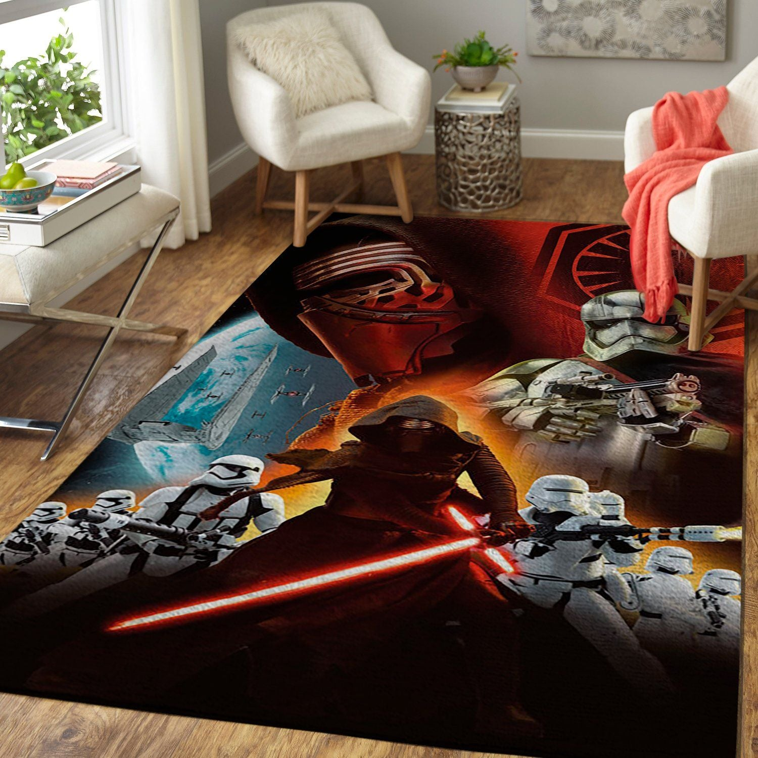 Star Wars Area Rug - The Force Awakens / Movie Floor Decor 190901A