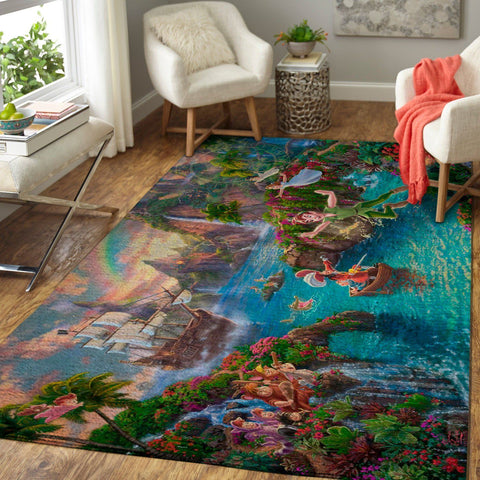 Disney Peter Pan Area Rug / Movie Floor Decor PP190902