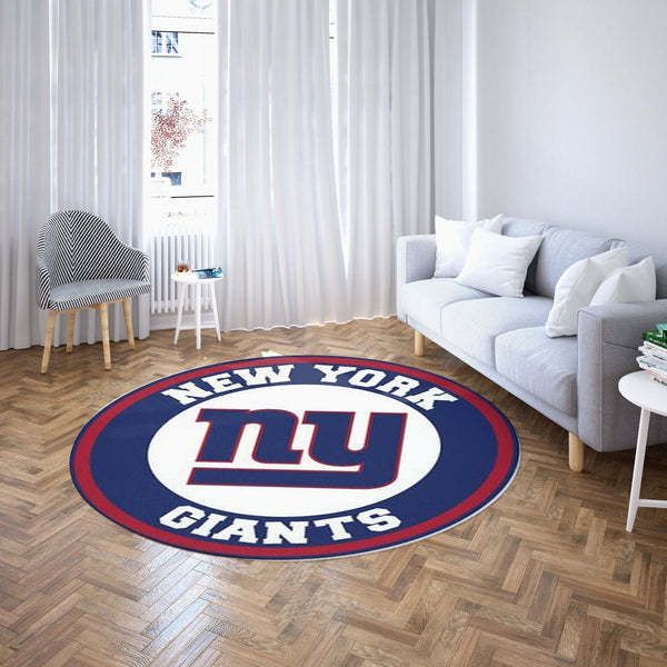 New York Giants Round Carpet NFL Football Team Logo Living Room Floor Decor