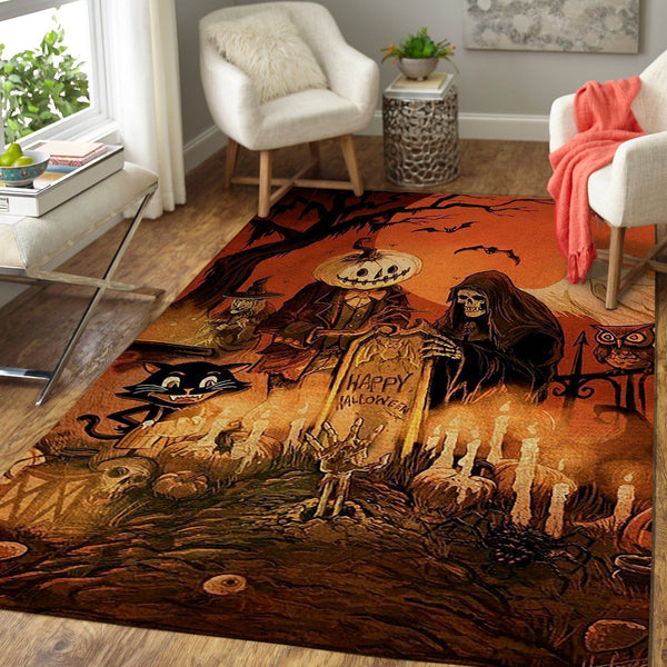 Happy Halloween HH190830 Area Rug Floor Decor