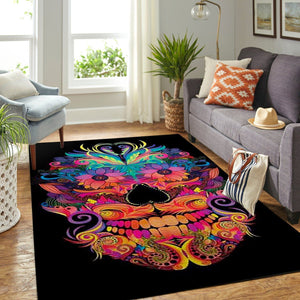 Beautiful Skull Area Rug /  OFD BHS190827