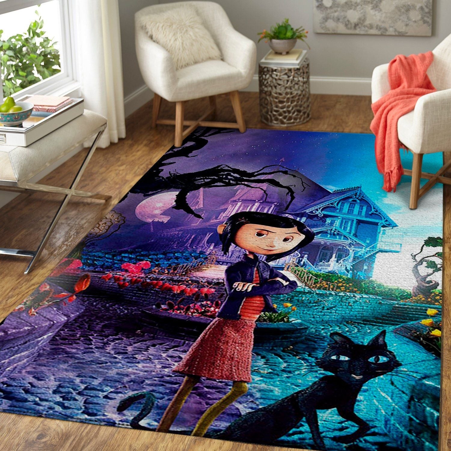 Coraline Area Rug / Movie Floor Decor CM190901