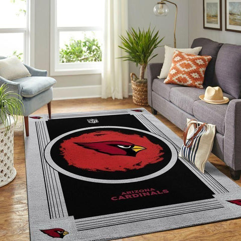 Arizona Cardinals Area Rug NFL Football Team Logo Carpet, Living Room Rugs Floor Decor 200303
