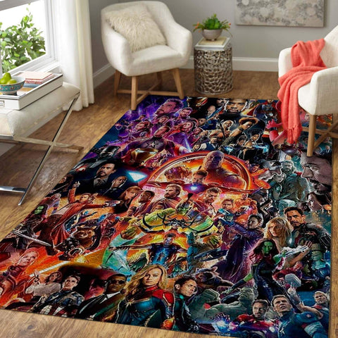 All Heroes The Avengers: End Game Area Rug / Marvel Superhero Movie Home Decor - HomeBeautyUS