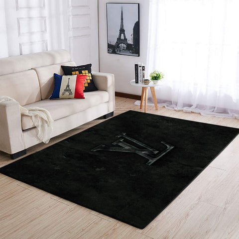 Dark Louis Vuitton Area Rug Hypebeast Fashion Brand Living Room Carpet, Floor Decor 1912273