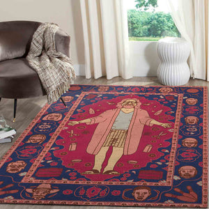 The Big Lebowski Carpet, The Dude Living Room Bedroom Area Rug Floor Decor