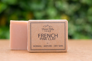 French Pink Clay Natual Soap