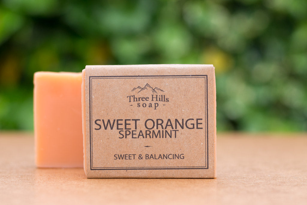 Sweet Orange and Spearmint Natural Soap Bar