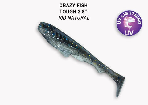 "CRAZY FISH Tough 5"" (12,5 cm) - 5 pc - BS Fishing"
