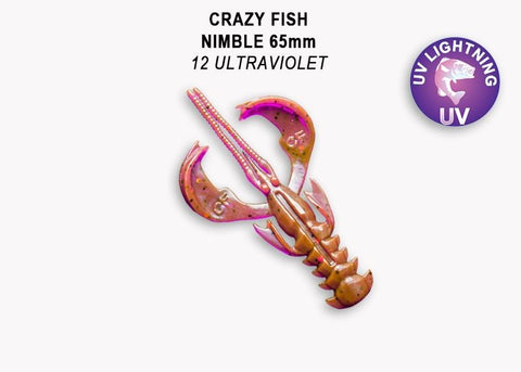 "CRAZY FISH Nimble 2,5"" (6.2 cm) - 7 pc - BS Fishing"