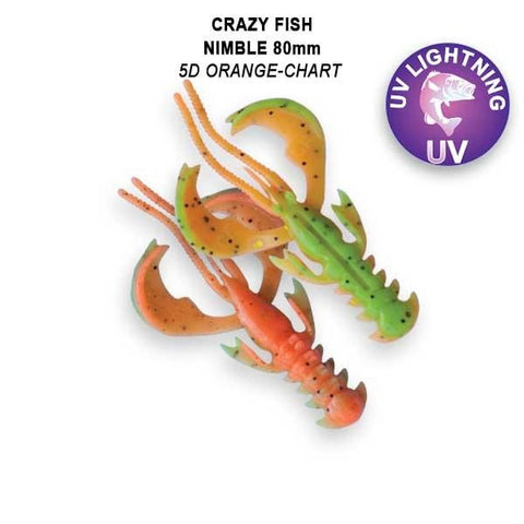 "CRAZY FISH Nimble Flottant 3.2"" (8 cm) - 6 pc - BS Fishing"