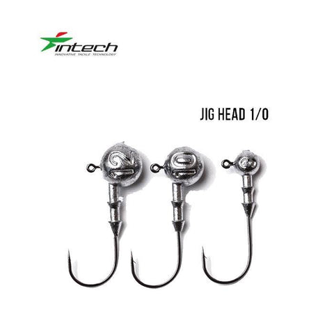 Têtes plombées INTECH DJ Head H1/0 (31.7mm) - BS Fishing