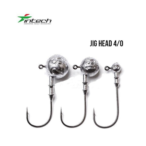 Têtes plombées INTECH DJ Head H4/0 (31.7mm) - BS Fishing