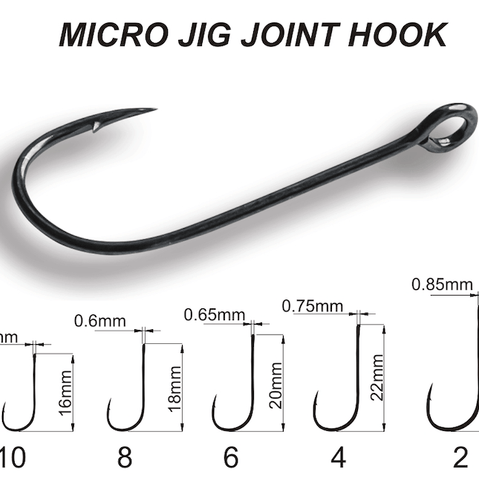 Hameçon simple CRAZY FISH Micro Jig Joint Hook (sachet) - BS Fishing