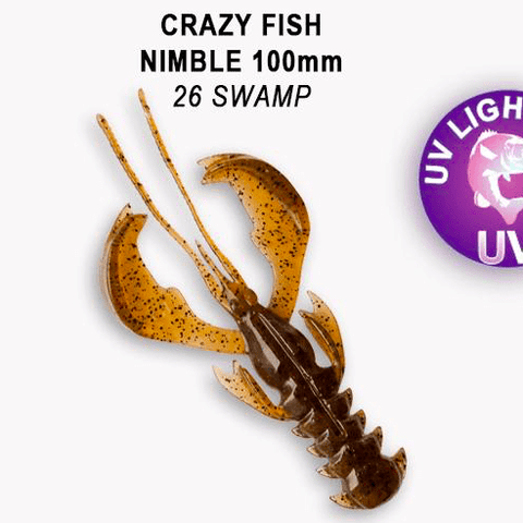 "CRAZY FISH Nimble 4"" (10 cm) - 5 pc - BS Fishing"