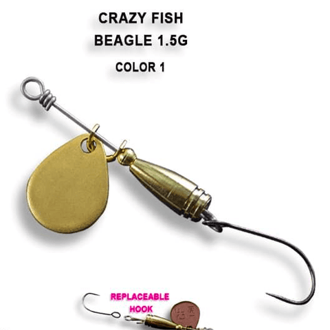 Cuillère tournante CRAZY FISH Beager 1.5g - BS Fishing