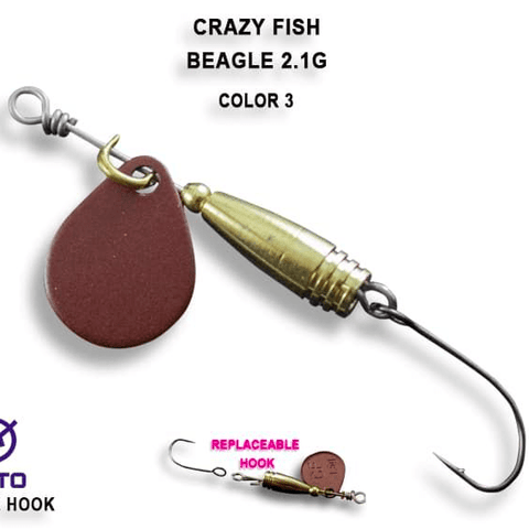 Cuillère tournante CRAZY FISH Beager 2.1g - BS Fishing