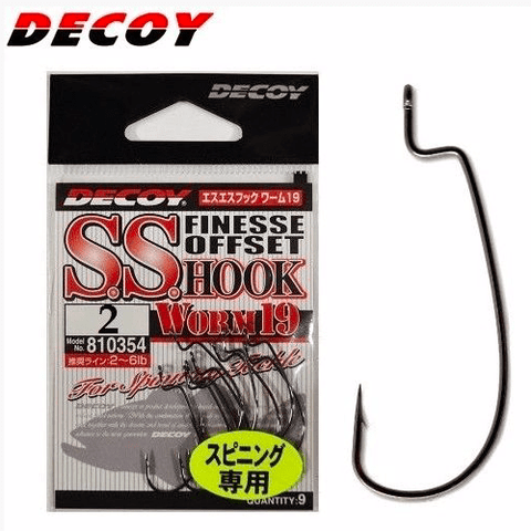 Hameçon Texan Decoy S.S. Hook Worm19 (sachet) - BS Fishing