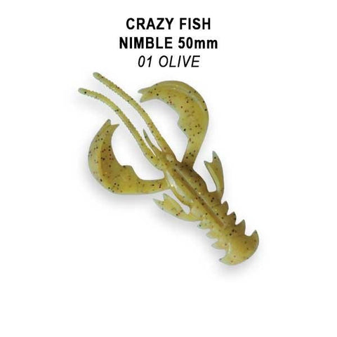 "CRAZY FISH Nimble Flottant 2"" (5 cm) - 8 pc - BS Fishing"
