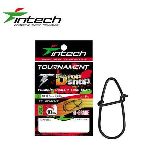 Agrafe Leurre Carnassier INTECH Drop Snap MATT BLACK(sachet) - BS Fishing