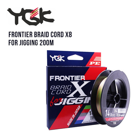 Tresse YGK Frontier Braid Cord X8 for Jigging 200m - BS Fishing