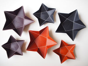 Origami Star Tray -  Set of Two / Whiskey