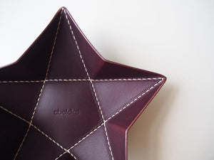 Origami Star Tray -  Set of Two / Chocolate