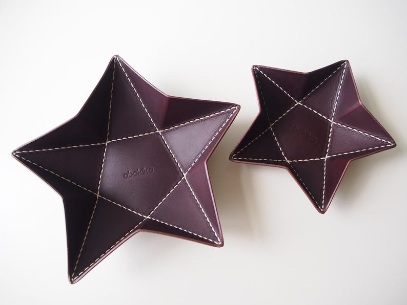 Origami Star Tray -  Medium / Chocolate