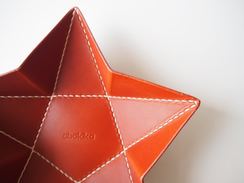 Origami Star Tray -  Medium / Whiskey