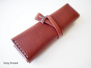 Travel Jewellery Roll - Tan