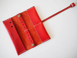 Travel Jewellery Roll - Red