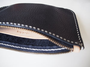 Flat zipper pouch - Black