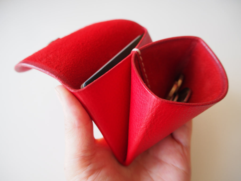 Origami Wallet - Landscape / Red