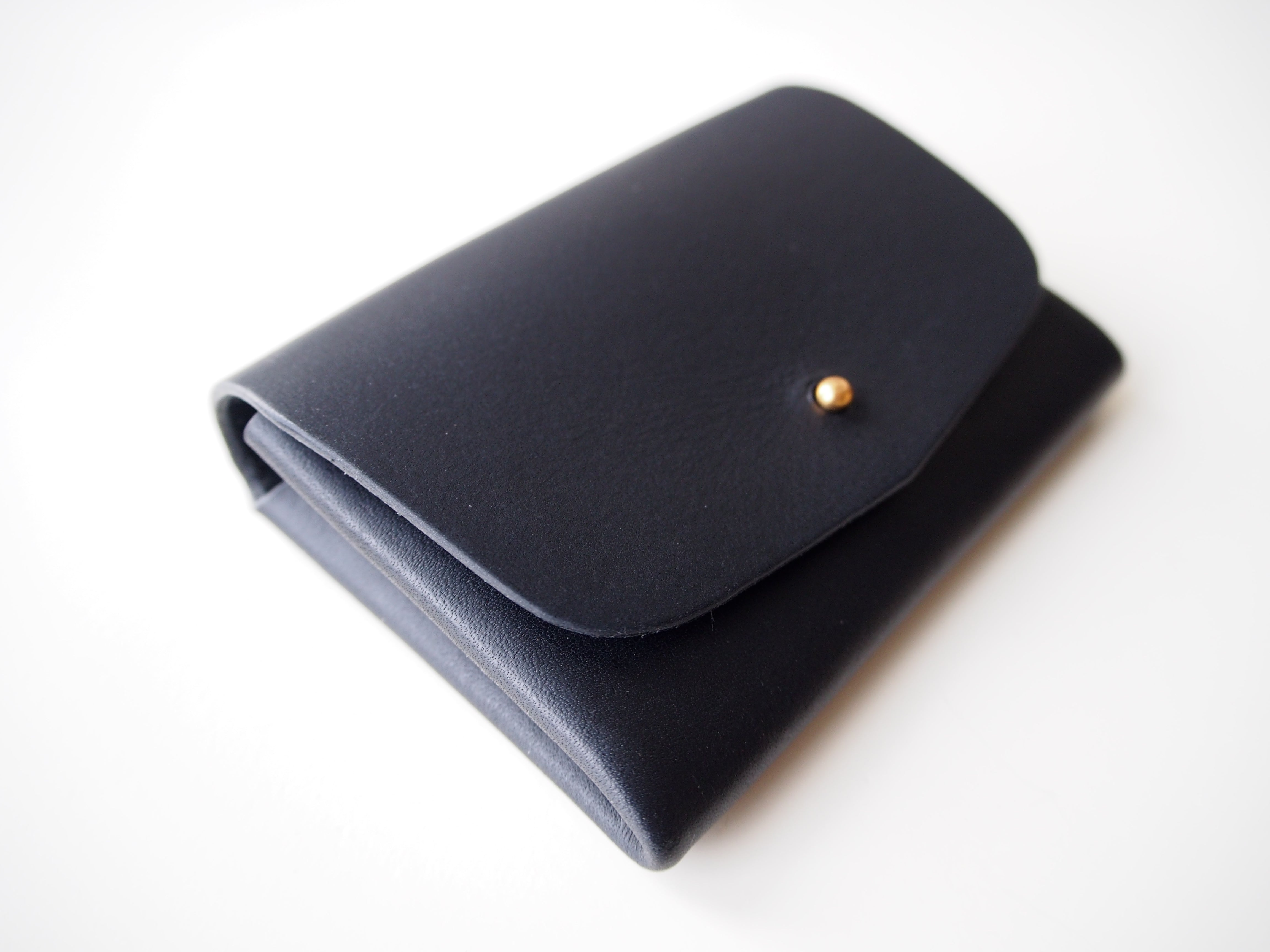 Origami Wallet - Smooth Leather / Black