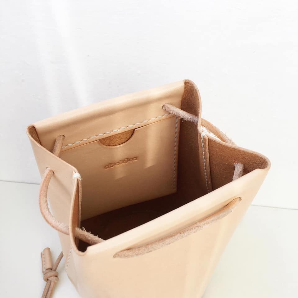 Mini Bucket Bag - Natural