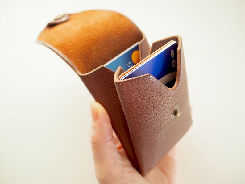 Origami Card Holder - Portrait / Tan